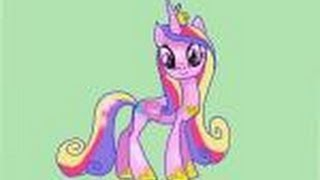 How to draw Princess Cadence from My Little Pony Friendship is Magic