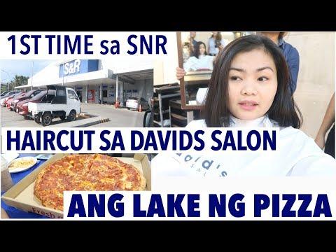 1ST TIME SA DAVIDS SALON | ANG LAKE NG PIZZA SA SNR
