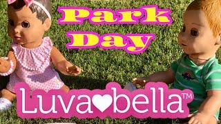Luvabella Luvabeau PARK DAY outside playtime BABY CAPTIONS