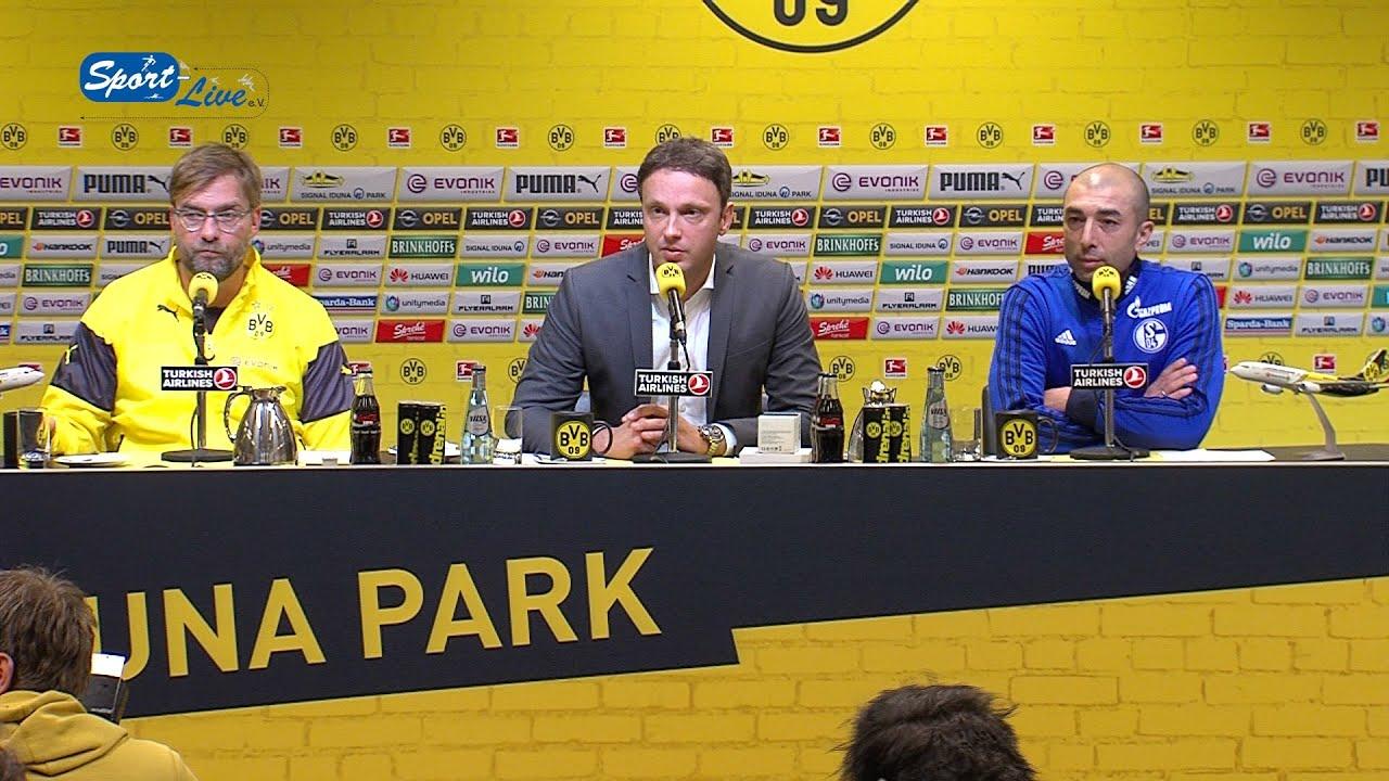 BVB Pressekonferenz nach Revierderby : Borussia Dortmund - FC Schalke 04 3:0