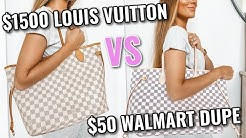 $1500 Louis Vuitton Bag vs $50 Walmart Dupe   Angela Lanter