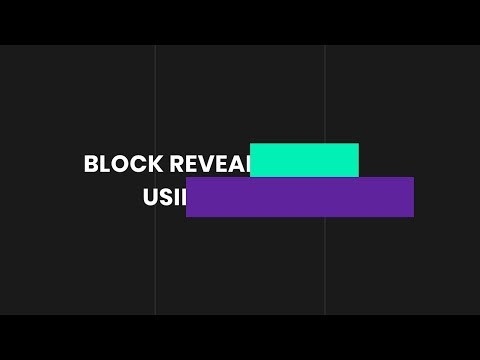 Block Reveal Effect | HTML & CSS