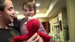 Athena meets Kissing Elmo