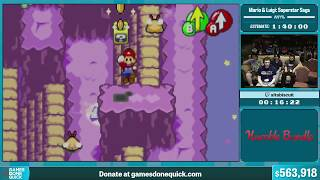 Mario & Luigi: Superstar Saga by altabiscuit in 1:29:28 - Summer Games Done Quick 2015 - Part 120