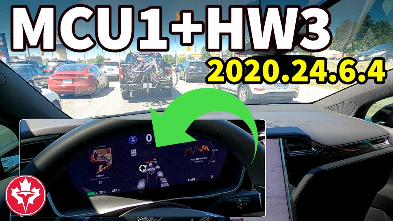 Tesla Model X ver. 2020.24.6.4 with MCU1 and HW3 is Pushed to the Limits!