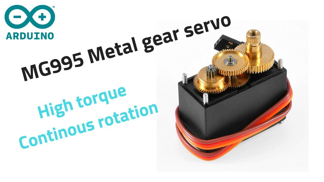 Use MG995 continuous rotation servo motor with Arduino