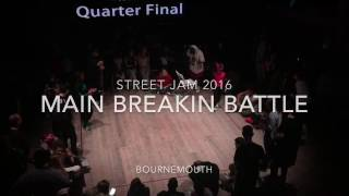 Street Jam 2016 Bournemouth Main Breakin Battle Bgirl Eddie vs Bgirl Terra Semi Final
