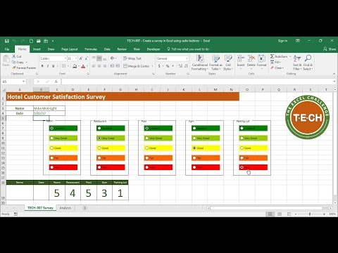 TECH-007 - Create a survey in Excel using Option Buttons (a.k.a. Radio Buttons)