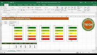 TECH-007 - Seçenek Düğmeleri kullanarak Excel'deki bir anket Oluşturun.k.bir. Radyo Düğmeleri)