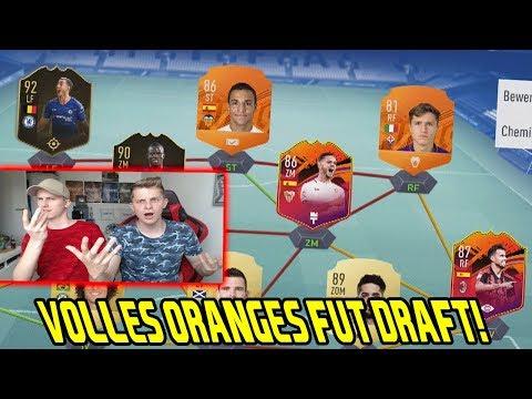 Fifa 19: Wer schafft zuerst ein volles ORANGES Fut Draft vs. kleinen Bruder! - Ultimate Team