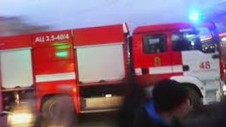 Пожарные спешат на вызов.Польша