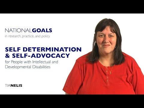 Self-determination and self-advocacy for...