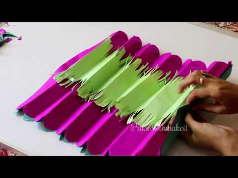 How to make tissue paper flower - Giant tissue paper flower making tutorial, easy method