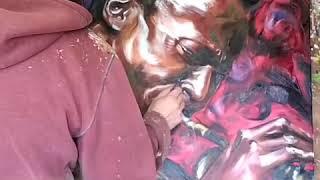 'Miles' oil painting timelapse