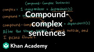 Compound-complex sentences | Syntax | Khan Academy