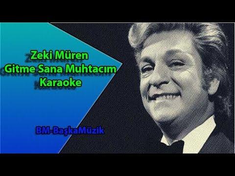 Zeki Müren Gitme Sana Muhtacım   Karaoke