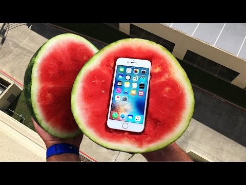 Thumbnail: Can a Watermelon Protect iPhone 6s from 100 FT Drop Test? - GizmoSlip