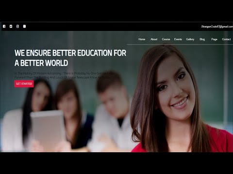 How To Create An Awesome Website For Education Using Html ,Css And JavaScript Step By Step