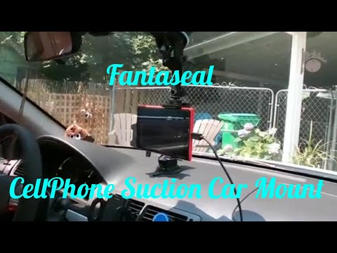 Fantaseal CellPhone Suction Car Mount For Samsung, LG, Even My Nokia Lumia 1520 and other Devices.
