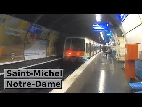 Rer paris saint michel notre dame b ratp mi79 youtube - Saint michel paris metro ...