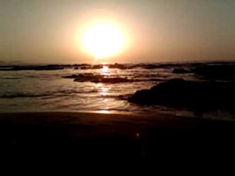 Sun, water, rocks