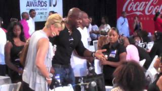 Brian Culbertson & Avant at the 2010 BET Awards Radio Tour