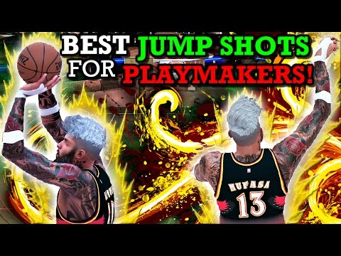 NBA 2K17 BEST JUMP SHOTS FOR PLAYMAKERS!! GET MORE GREEN RELEASES!!
