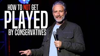 Jon Stewart Perfectly Describes the Right's Fake Outrage Game