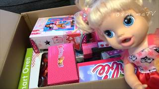 Кукла Большая коробка Сюрприз ПОСЫЛКА Новые  ИГРУШКИ Барби Штеффи Маша и Медведь Детская кухня Пинки
