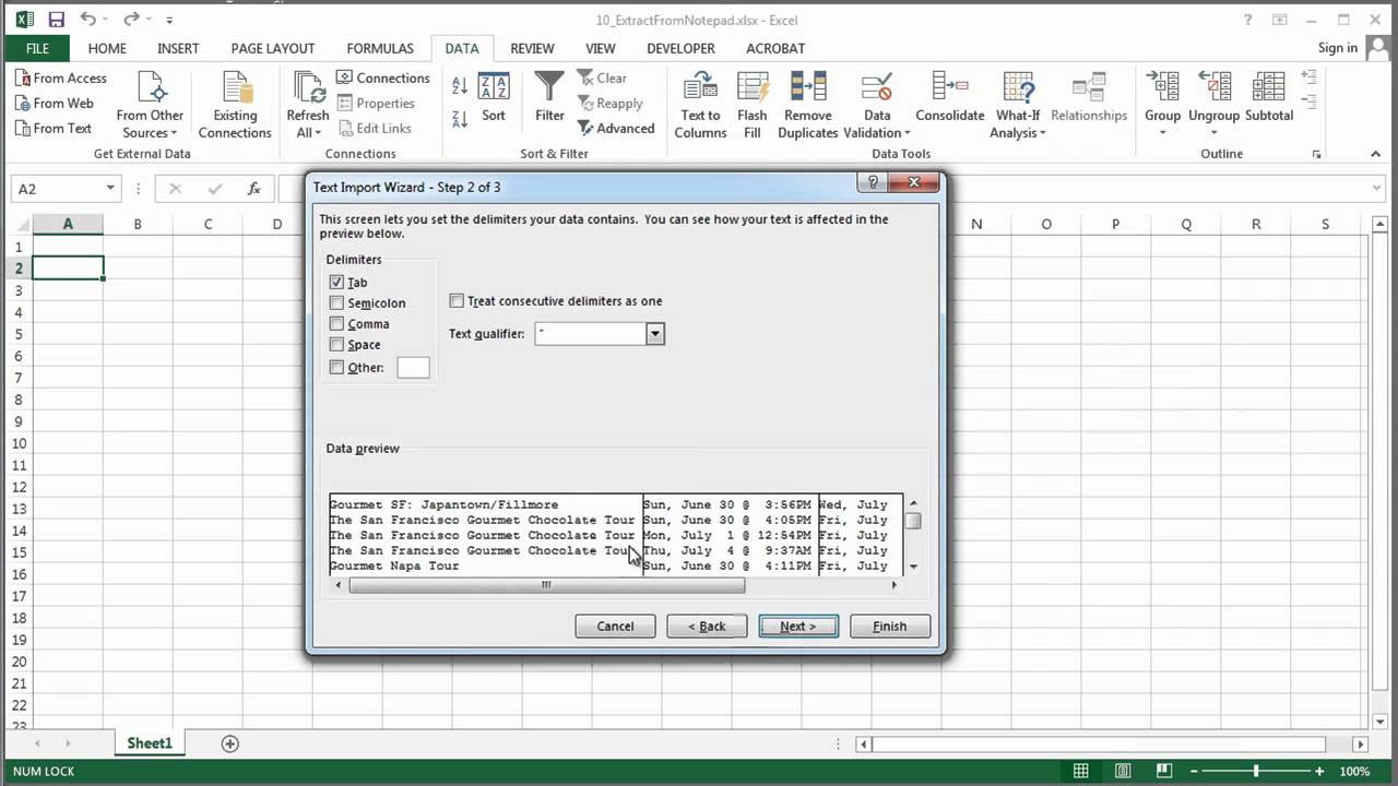 How to Extract Information From Notepad to Excel : MS Excel Tips