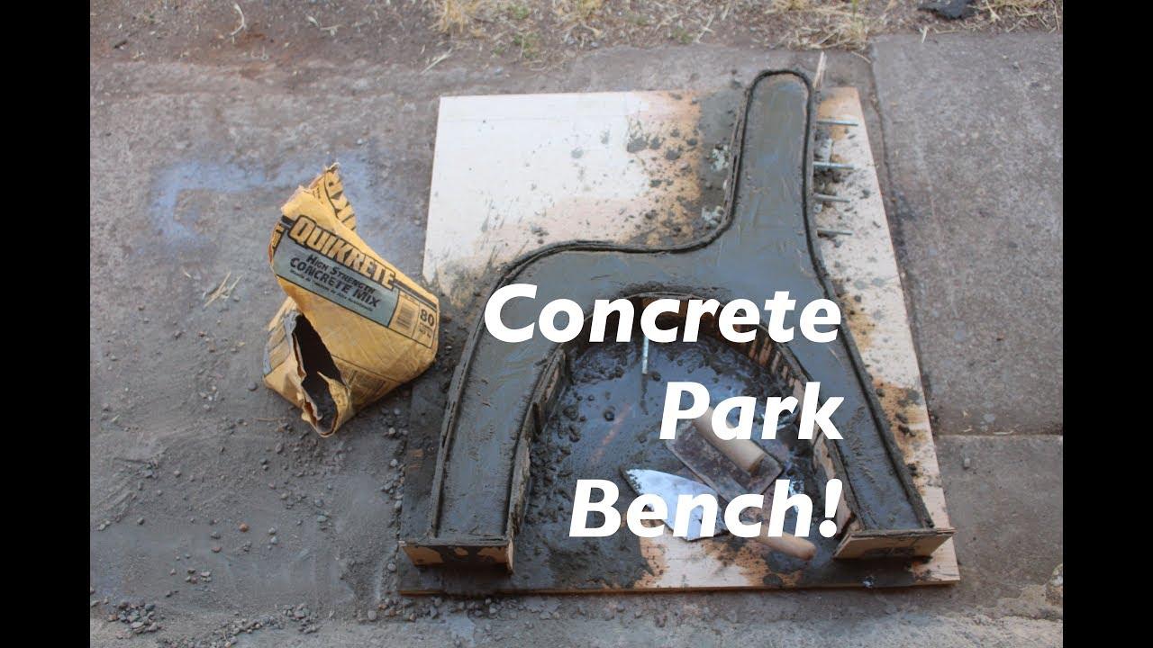 Concrete Park Bench One Bag Wonder Challenge
