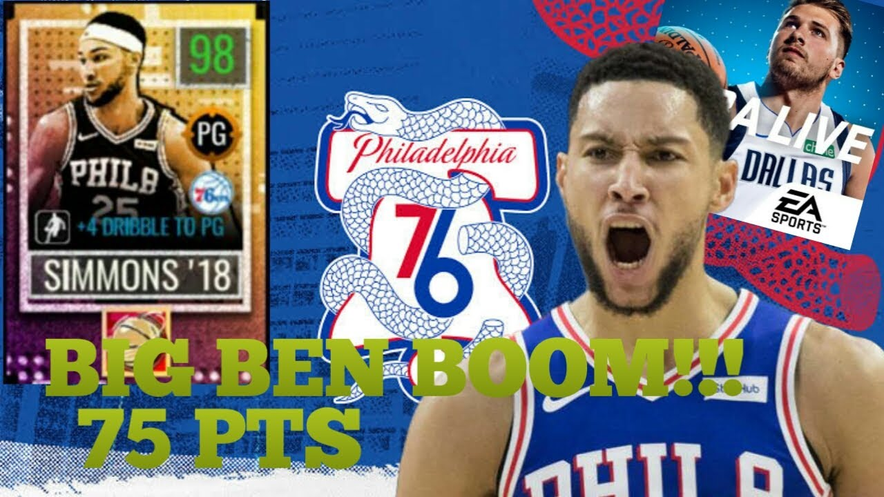 BEN SIMMONS SCORES 75 PTS!!! NBA Live Mobile Gameplay