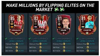 HOW TO MANIPULATE/FLIP ON THE MARKET *ELITES METHOD*FIFA MOBILE 20 BEST COIN MAKING METHOD #9