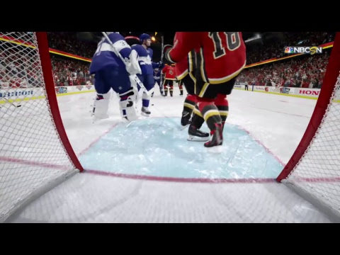 NHL 18 Toronto MAPLE LEAFS VS CALGARY FLAMES