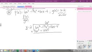 Section 2 3 Long Division Review and Polynomial Example