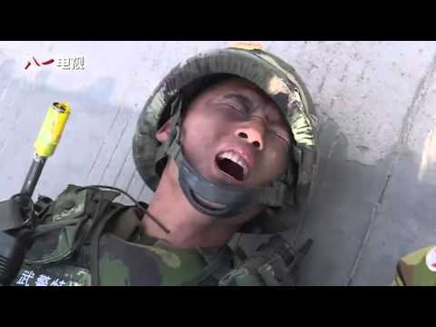 Chinese Armed Police Force Force in altitude training (not Special Forces)