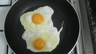 Рецепт яичницы. Как сделать вкусную яичницу за 3 минуты