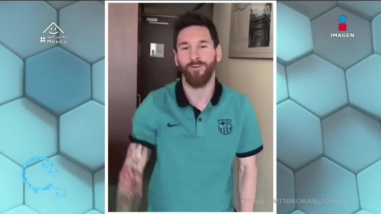Messi hace tutorial de postre con galleta | Qué Importa