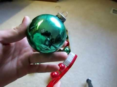Cleaning vintage Christmas ornaments, And advice