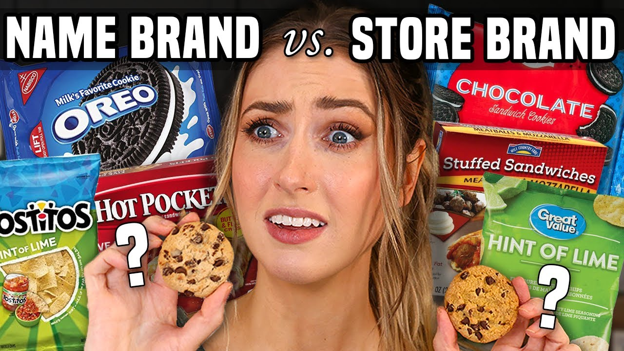 Download NAME BRAND vs GENERIC SNACKS Taste Test... Which one is ACTUALLY better??