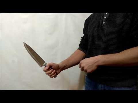 Как крутить нож: смена хвата одной рукой