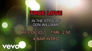 Don Williams - True Love (Karaoke)