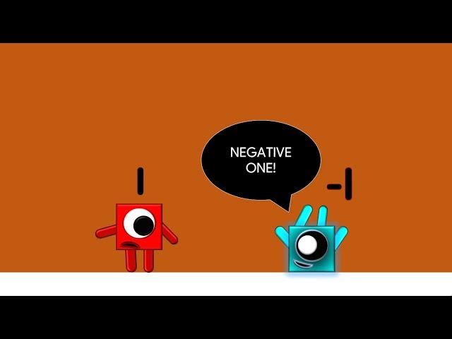 Numberblocks Animation - Negatives