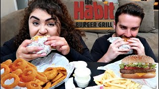 CRUNCHY ONION RINGS, BURGER & FRIES MUKBANG | THE HABIT