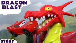 Disney Cars Toys Hot Wheels Dragon Blast Race with McQueen Superheroes Batman and Avengers TT4U