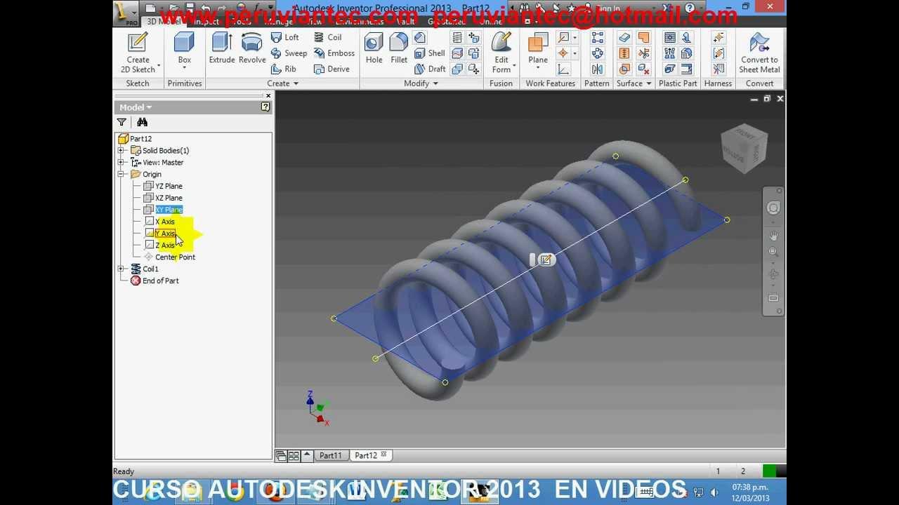 curso inventor 2013 espa ol en videos tutorial inventor 2013 rh youtube com Autodesk Inventor Drawings Autodesk Inventor Drawings