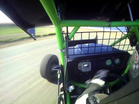 Tony Rost Wing 360 Sprint Car Testing at Junction Motor Speedway 5/30/15