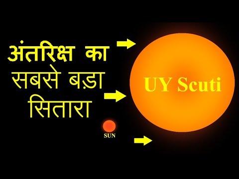 अंतरिक्ष का सबसे बड़ा सितारा | Amazing Facts about UY Scuti in Hindi