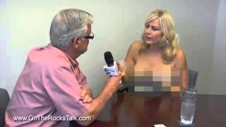TV anchor stripping her bra and showing asset. Is it legal to be topless here?