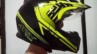 Helm Supermoto MTX Yamaha Kuning Hitam (Review)
